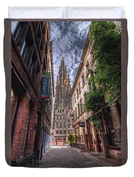 Antwerp Cathedral Duvet Cover