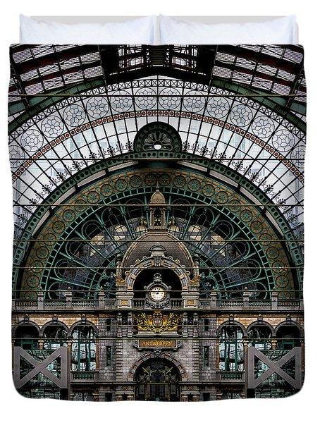 Antwerp Train Terminal Duvet Cover