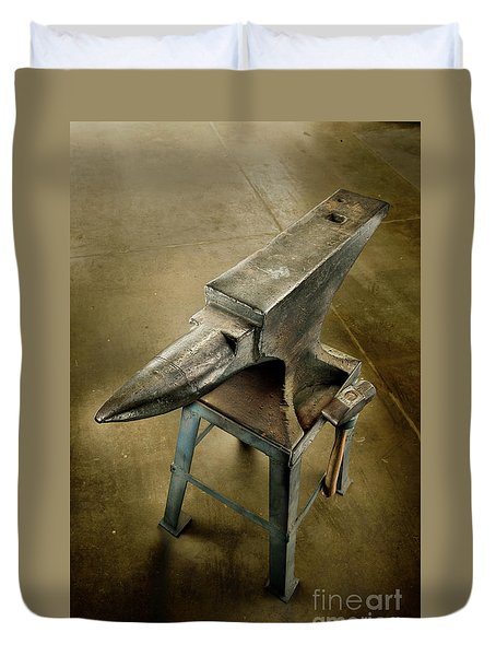 Anvil And Hammer Duvet Cover by YoPedro