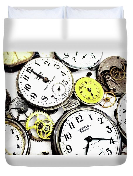 Anybody Really Know What Time It Is Duvet Cover by Pat Cook