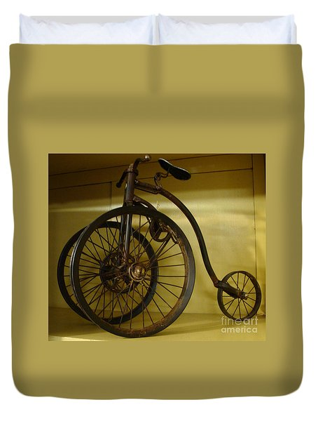 Duvet Cover featuring the painting Anyone For A Bike Ride?  by Rod Jellison