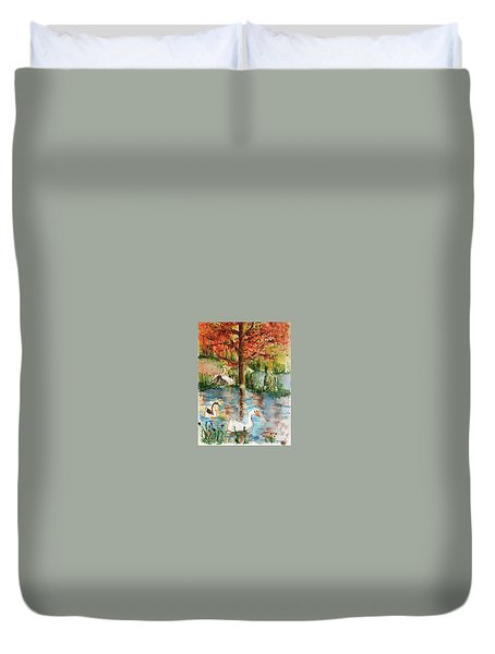 Anyones Duck Pond Duvet Cover
