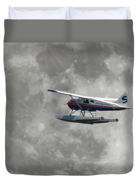 Aop And The Full Moon Duvet Cover by Mark Alan Perry