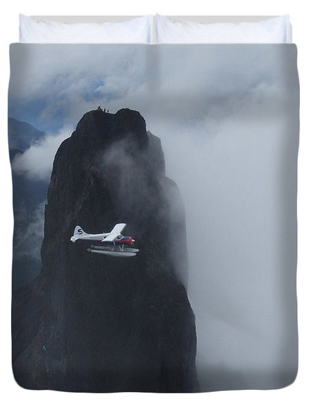 Aop At Black Tusk Duvet Cover by Mark Alan Perry