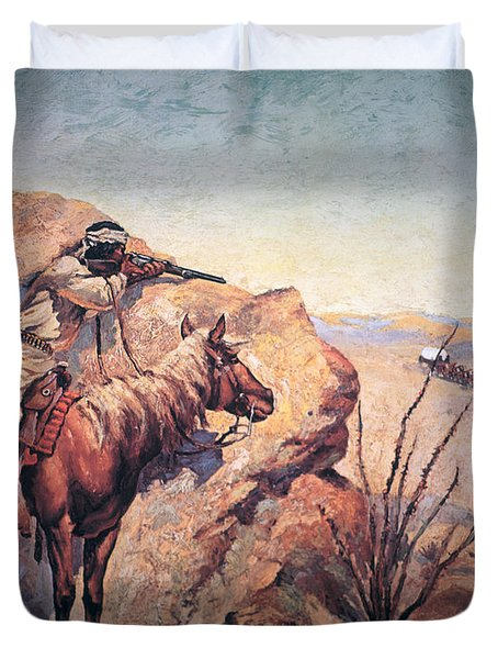 Apache Ambush Duvet Cover by Frederic Remington