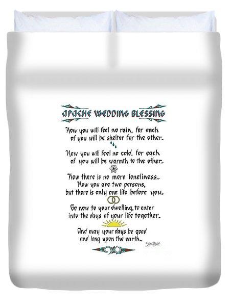 Apache Wedding Blessing Duvet Cover