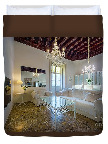 Duvet Cover featuring the photograph Apartment In The Heart Of Cadiz 17th Century by Pablo Avanzini
