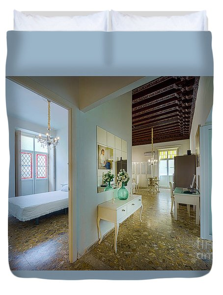 Duvet Cover featuring the photograph Apartment In The Heart Of Cadiz 17th Century Spain by Pablo Avanzini