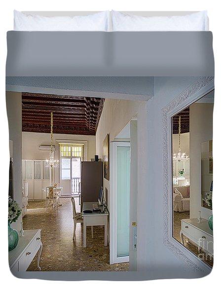 Duvet Cover featuring the photograph Apartment In The Heart Of Cadiz Spain by Pablo Avanzini