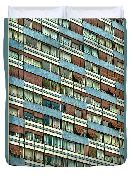 Apartment Windows Duvet Cover by Kim Wilson