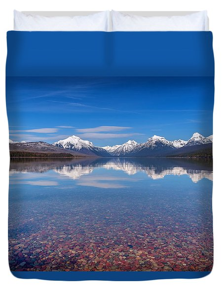 Apgar Beach Rocky Shore Duvet Cover