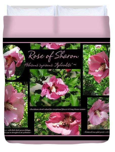 Duvet Cover featuring the photograph Aphrodite Rose Of Sharon Hibiscus - Collage by Brooks Garten Hauschild