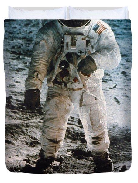 Apollo 11 Buzz Aldrin Duvet Cover