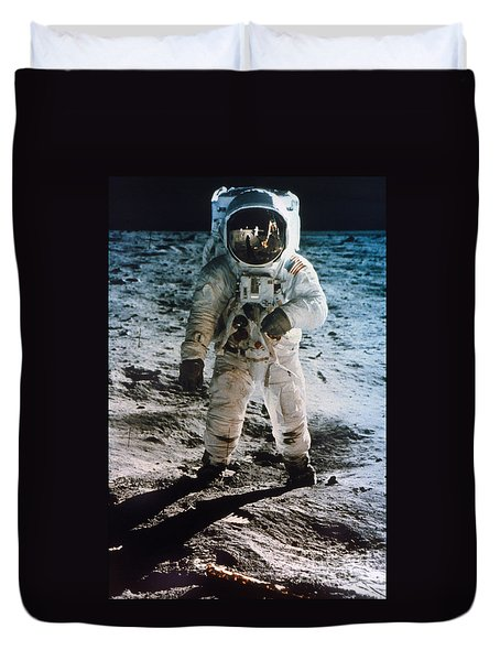 Apollo 11 Buzz Aldrin - To License For Professional Use Visit Granger.com Duvet Cover