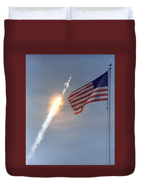 Apollo 11 Launch Duvet Cover