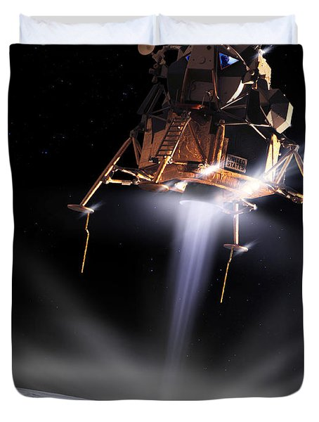 Apollo 11 Moon Landing Duvet Cover by Detlev Van Ravenswaay and Photo Researchers