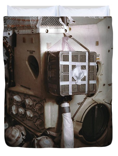 Apollo 13s Mailbox Duvet Cover by Nasa