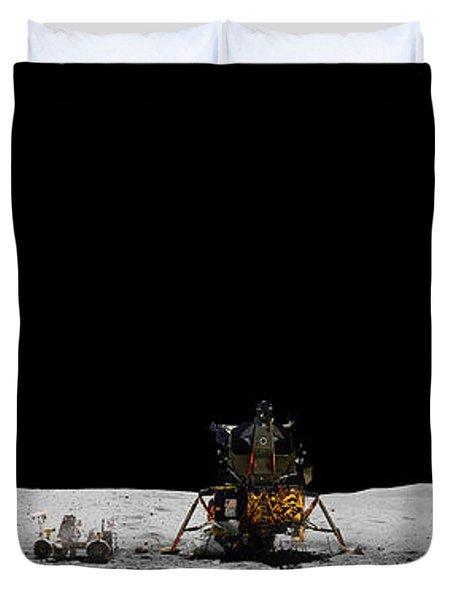 Apollo 16 Landing Site Panorama Duvet Cover