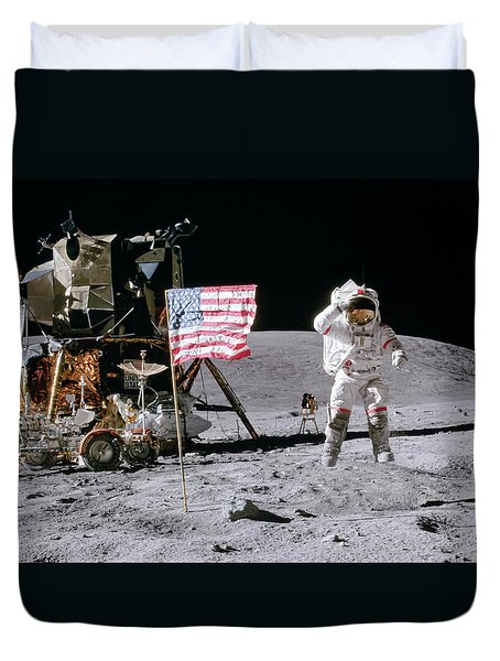 Apollo 16 Duvet Cover by Peter Chilelli