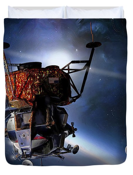 Apollo 9 Lunar Module Duvet Cover