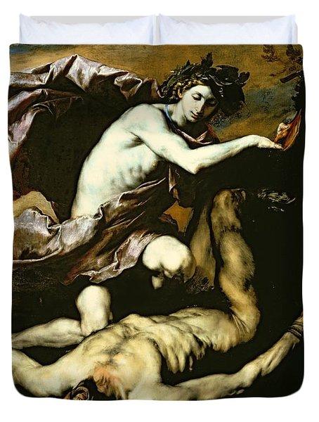 Apollo And Marsyas Duvet Cover by Jusepe de Ribera