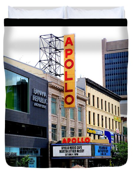 Apollo Theater Duvet Cover by Randall Weidner