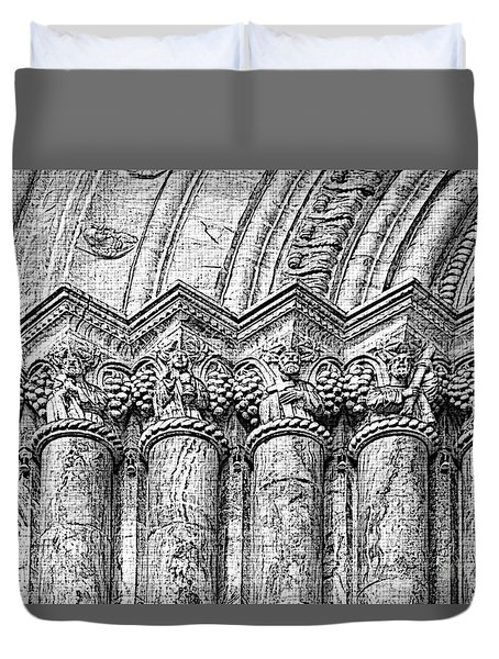 Apostles On Immaculate Conception II Duvet Cover by Al Bourassa