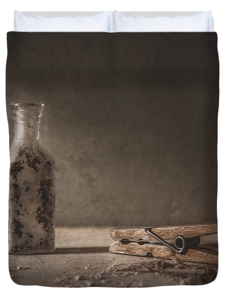 Apothecary Bottle And Clothes Pin Duvet Cover