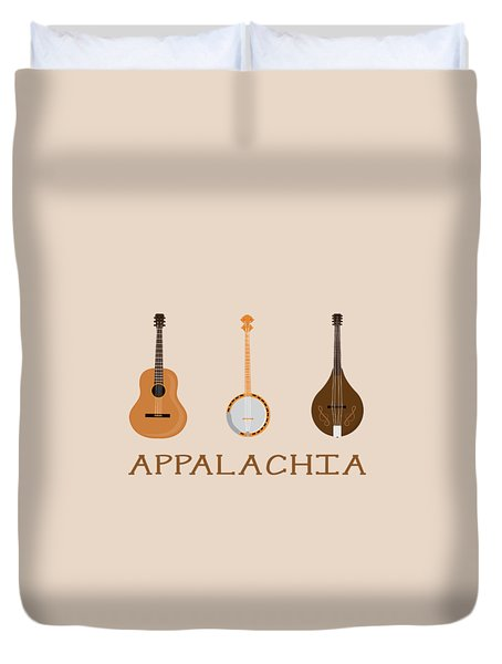 Duvet Cover featuring the digital art Appalachia Music by Heather Applegate