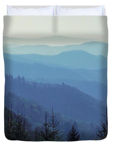 Appalachian Blue Duvet Cover