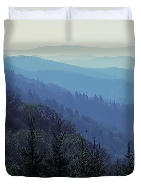 Duvet Cover featuring the photograph Appalachian Blue by Nicholas Blackwell