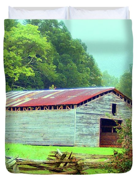 Appalachian Livestock Barn Duvet Cover by Desiree Paquette