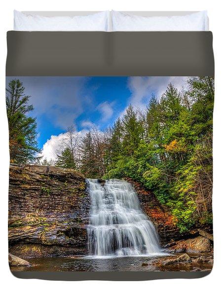 Appalachian Mountain Waterfall Duvet Cover