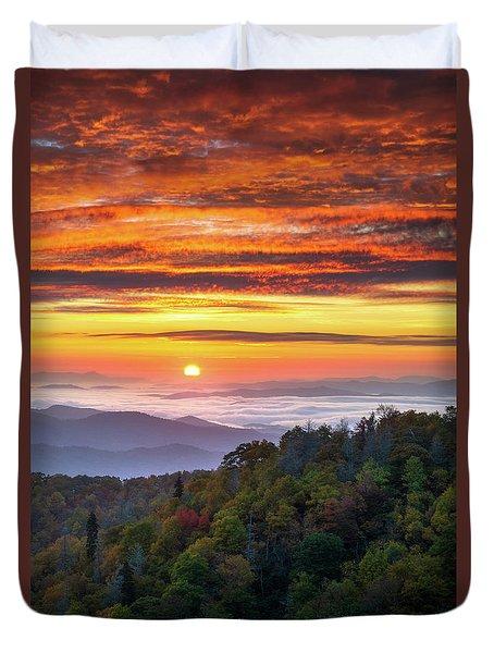 Appalachian Mountains Asheville North Carolina Blue Ridge Parkway Nc Scenic Landscape Duvet Cover
