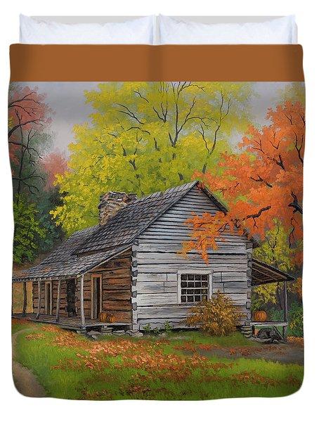 Appalachian Retreat-autumn Duvet Cover by Kyle Wood