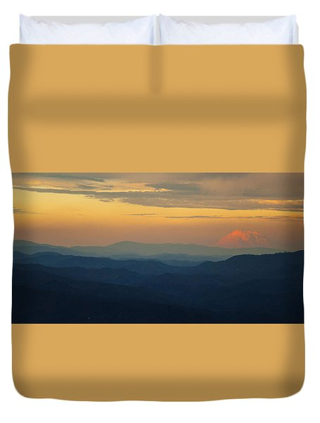 Duvet Cover featuring the photograph Appalachian Sky by Rob Hemphill