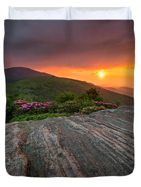 Appalachian Trail Roan Highlands Jane Bald Sunset Landscape Duvet Cover