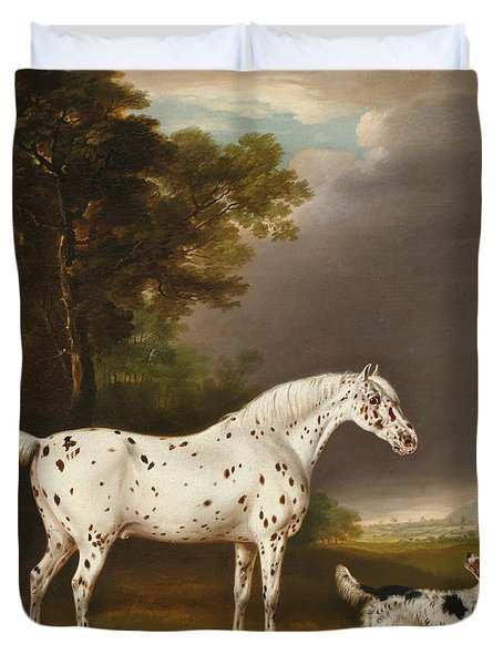 Appaloosa Horse And Spaniel Duvet Cover