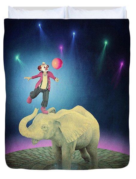 Duvet Cover featuring the digital art Applause by Jutta Maria Pusl