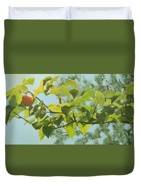 Apple A Day Duvet Cover by Karen Ilari
