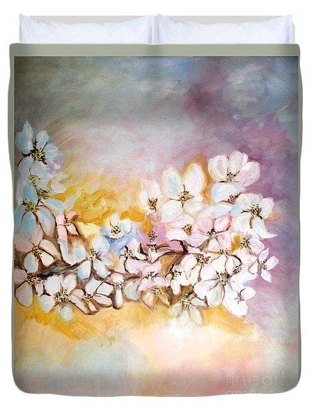 Apple Blooms Duvet Cover