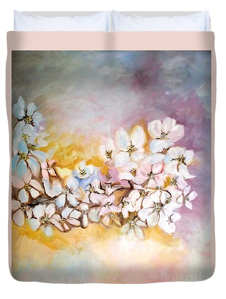 Apple Blooms Duvet Cover