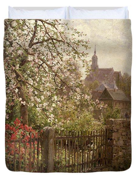 Apple Blossom Duvet Cover by Alfred Muhlig