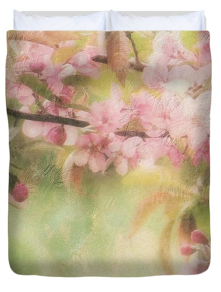 Apple Blossom Frost Duvet Cover