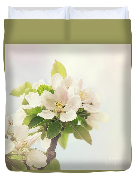 Apple Blossom Retro Style Processing Duvet Cover
