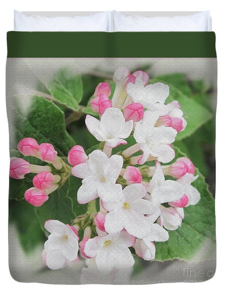Duvet Cover featuring the photograph Apple Blossom Time by Kathie Chicoine
