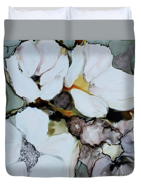 Duvet Cover featuring the painting Apple Blossoms by Joanne Smoley