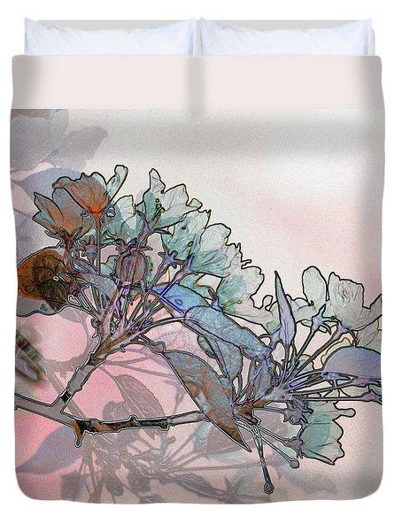 Apple Blossoms Duvet Cover by Stuart Turnbull