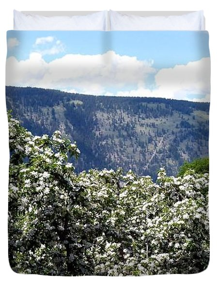 Apple Blossoms Duvet Cover by Will Borden