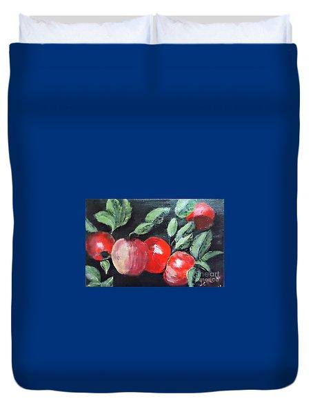Apple Bunch Duvet Cover by Francine Heykoop